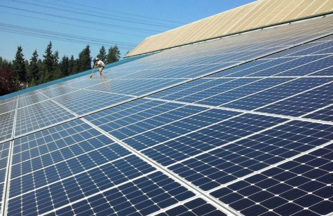 104 kW Solar PV System, King County Aquatic Center, Federal Way - Western Solar